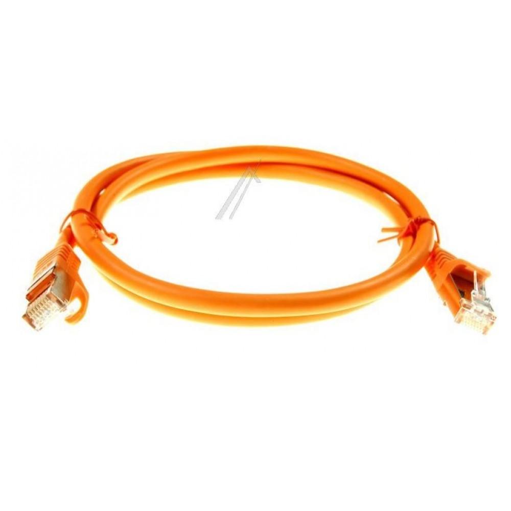 Kabell interneti CAT7 ngjyre portokalli 1M