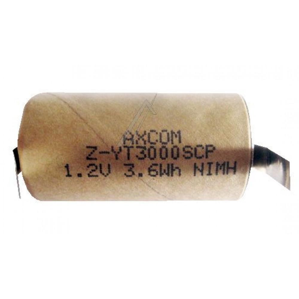 1,2V-3000MAH NI-MH AKKU MIT LÖTFAHNEN 41,6MM X 22,4MM