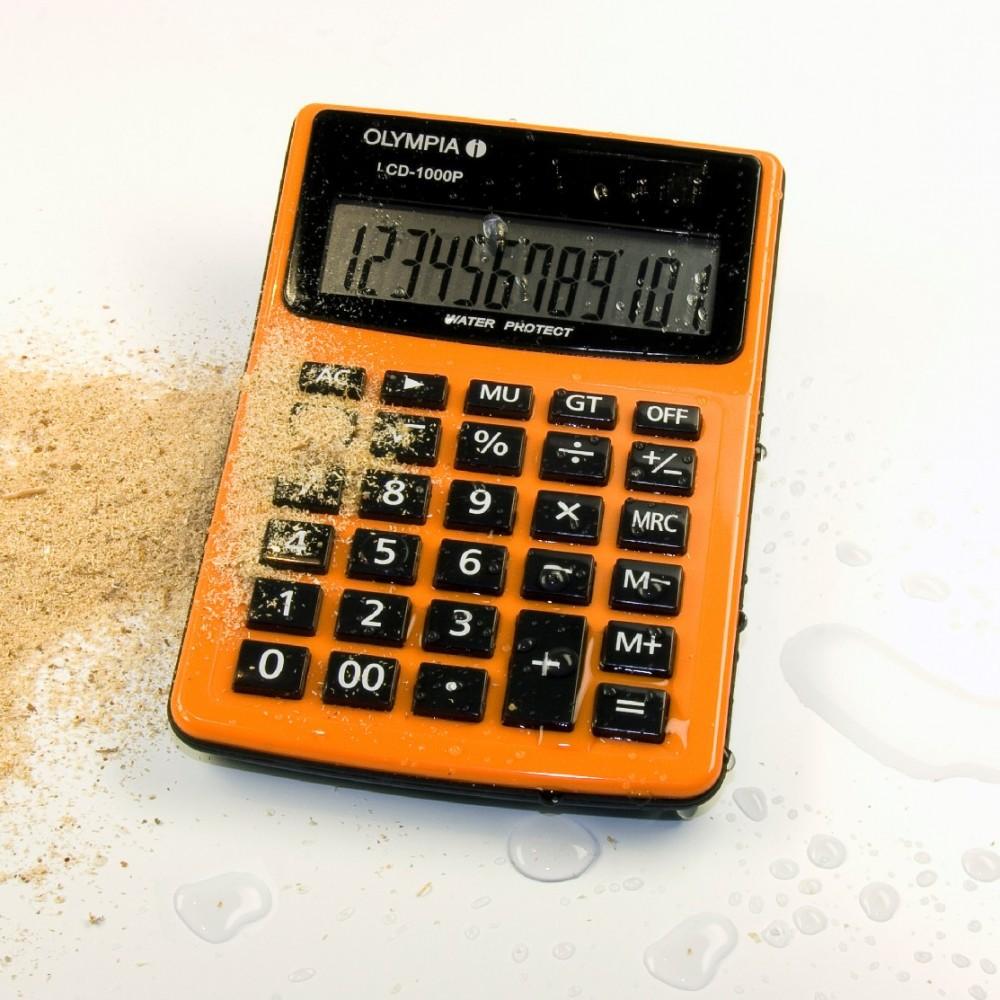 Kalkulator - rezistent ndaj sterpikjeve te ujit dhe pluhurit.