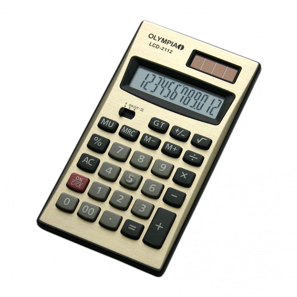 Olympia gjerman kalkulator Qe Punon Me Bateri Dhe Solar