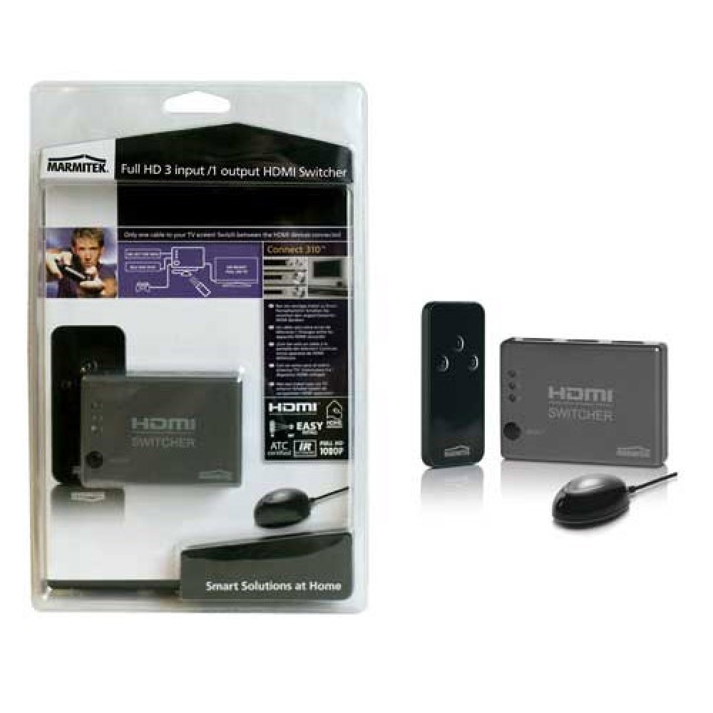 Full HD 3 input /1 output HDMI Switcher with 3D support