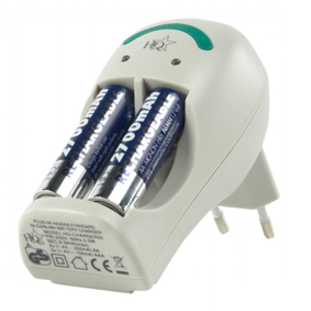 Mbushes i baterijave me 2 baterija 950mAh