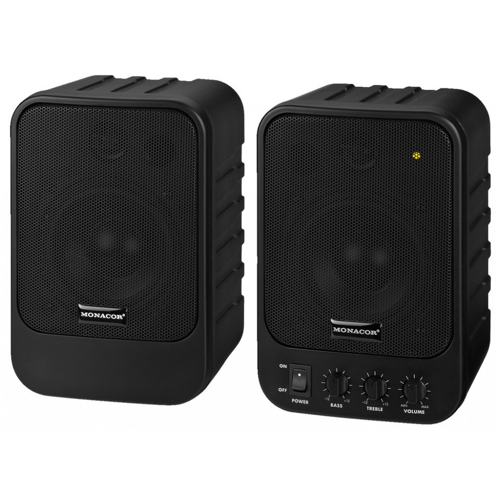MKA-40SET/SW Compact active 2-way stereo speaker system,  2 x 10 W