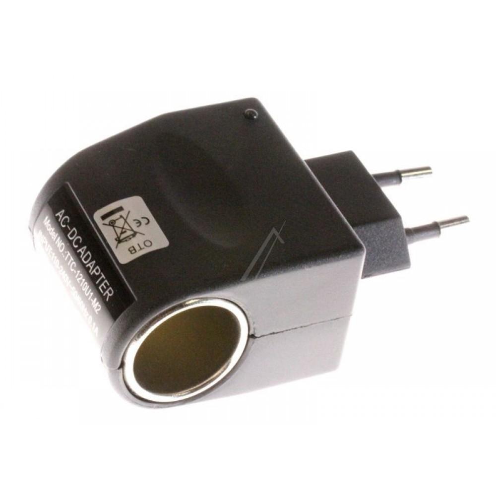Adapter prej 230V ne 12V per gjeke te cigareve te kerrit