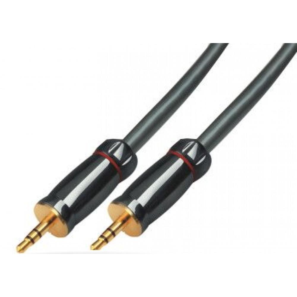 Audio 2 x shtek 3.5 mm kabell 3m, me kontakte te flakeruara