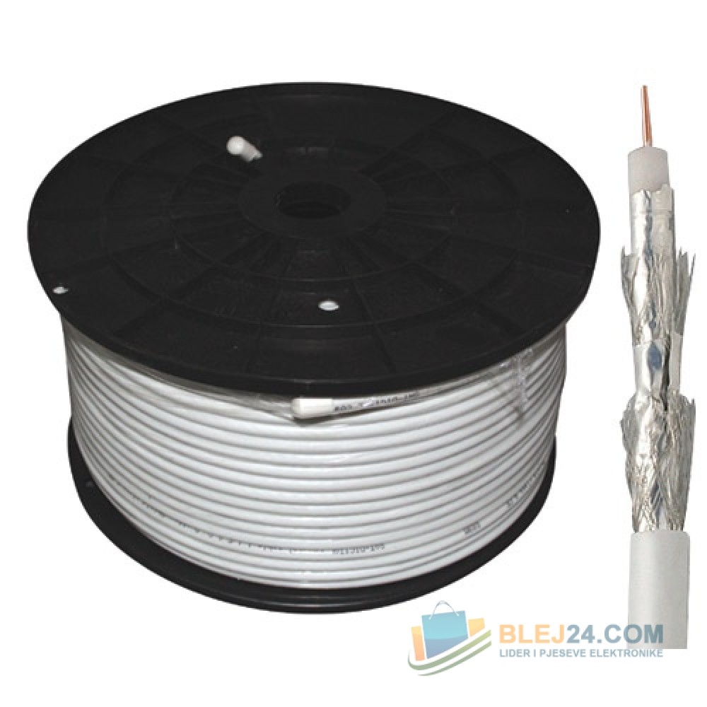 Koaxial kabell special per antene, kamere etj. 100m, 120dB, 7.2mm