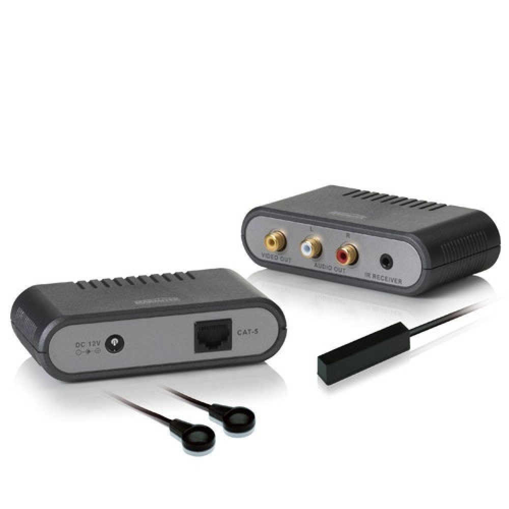 Composite Audio/Video extender over CAT5 + IR Return signal