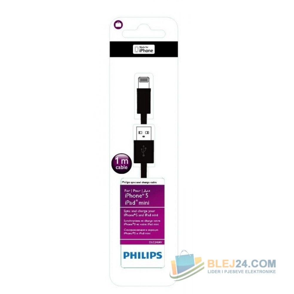 USB kabell per IPHONE 5 dhe 6 origjinal Philips