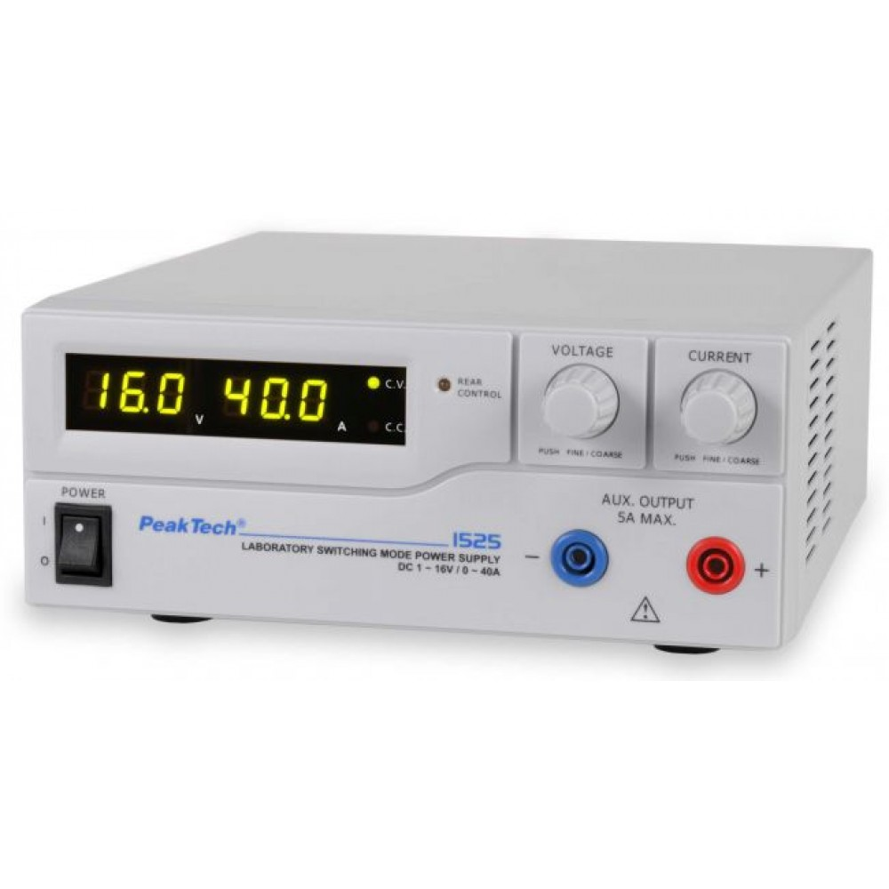 Laboratory Switching Mode Power Supply DC 1 - 16 V / 0 - 40 A