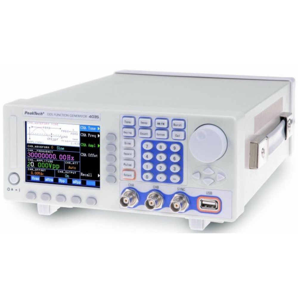DDS Multifunction Generator, 40 µHz-30 MHz