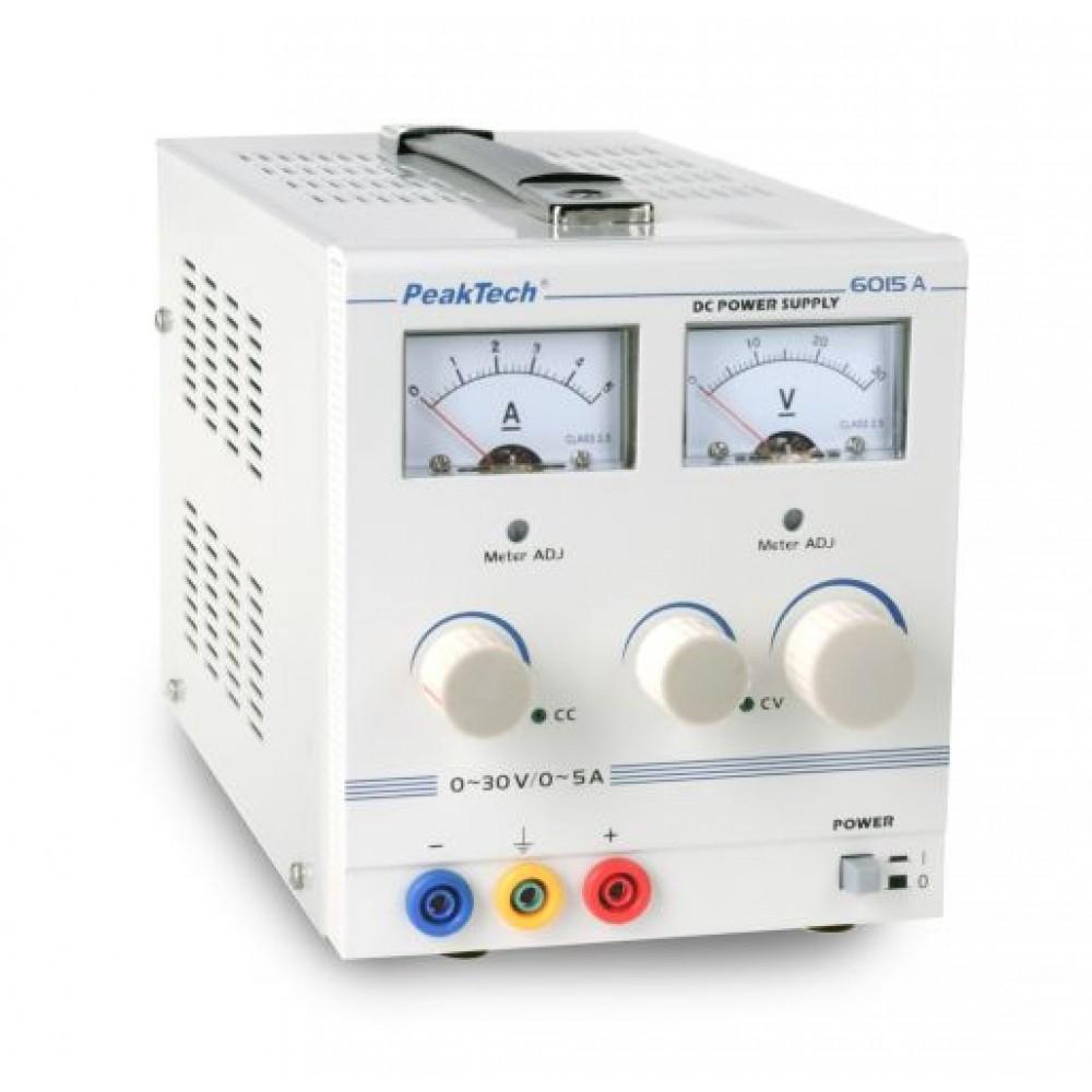 Analogue Power Supply, 0 - 30 V/0 - 5 A DC