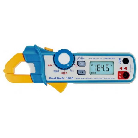 Digital-Clamp Meter, 3 2/3-digit, 200 A AC/DC, 600 V AC/DC