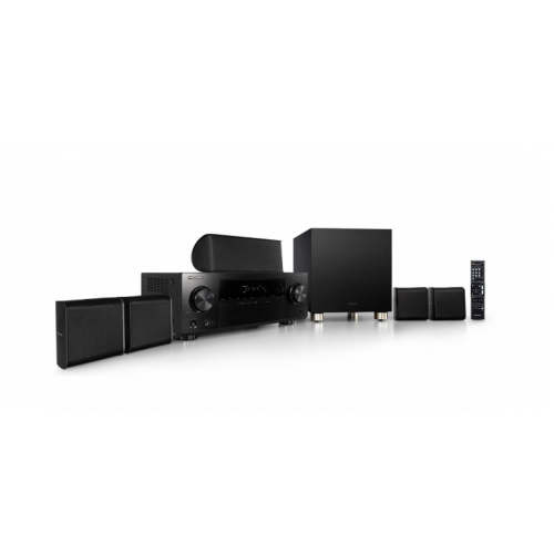 Dolby Surround System Pioneer 5.1 HDMI 3D AV Receiver with 4K Pass Through, Bluetooth, HD Audio and Speaker Package