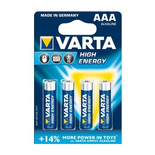 Bateri VARTA Alkaline LR03 High Energy 1.5V AAA
