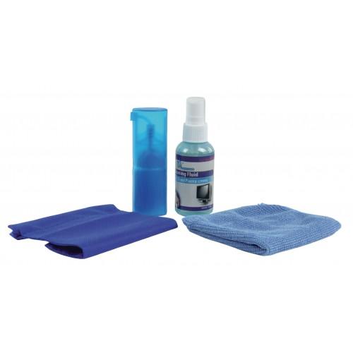 Pastrues SET per display me spray,leckë dhe brushë