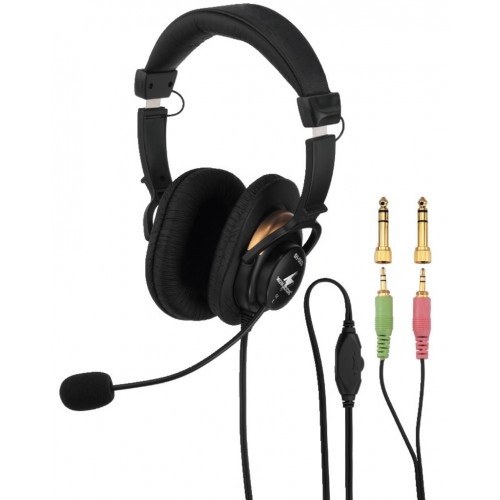 BH-003 Stereo headphones with electret boom microphone