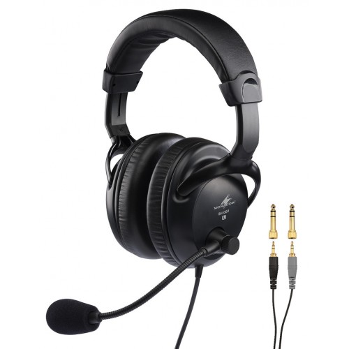 BH-009 Professional stereo headphones with dynamic boom microphone