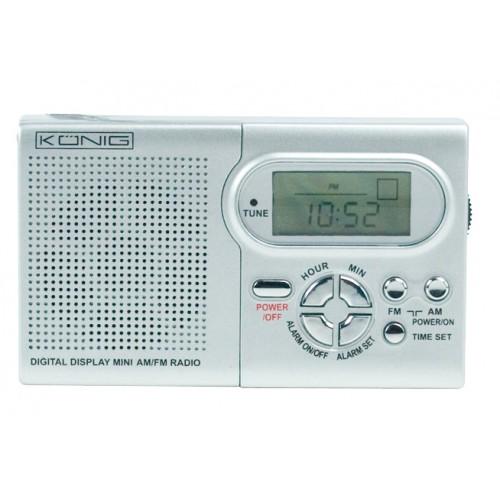 Mini FM/MW radio me display digjital/ore/Alarm