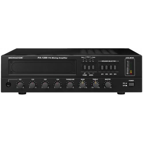 4-zone mono PA mixing amplifier