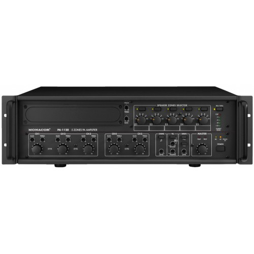 5-zone mono PA mixing amplifiers