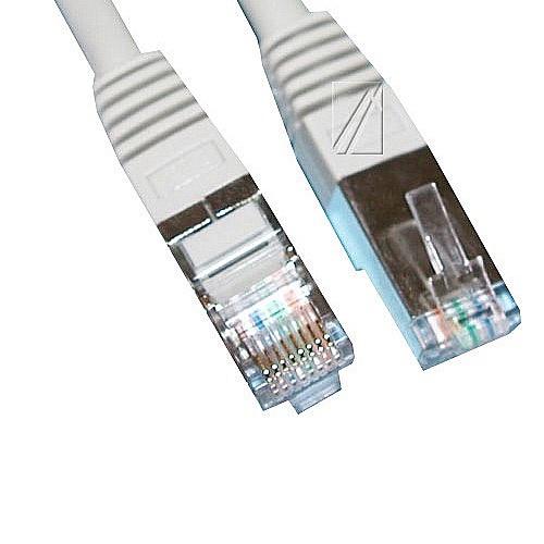 Kabëll Interneti CAT6, RJ45, S/FTP 10Gbps - 1M, e certifikuar