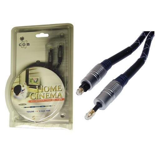 Kabëll audio optik toslink në 3.5mm mini HOME CINEMA - 2m, e certifikuar