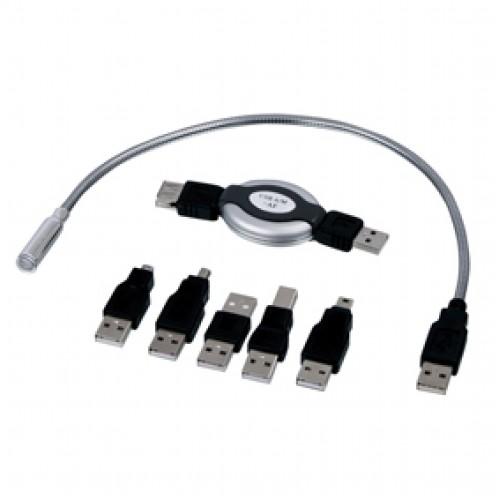 USB kompleti me adaptor dhe LED drite