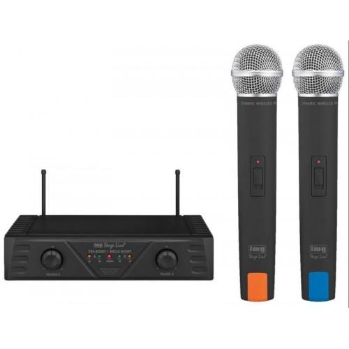 Baza me 2 mikrofona pa kablla