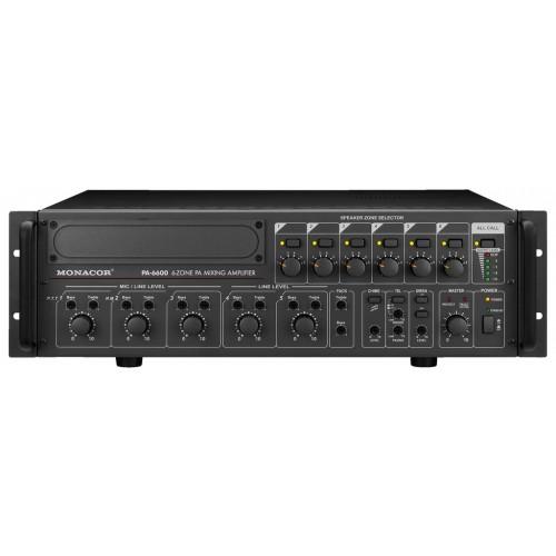 6-zone mono PA mixing amplifiers PA-6600