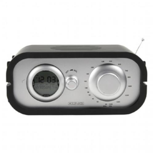 Radio me ore digjitale,punon me tri bateria ose 4,5V